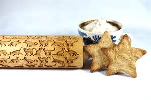 cat rolling pin beautiful cats embossingengraved rolling pin for cookies