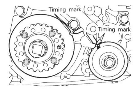 solved i need a timing belt diagram with timing marks fixya