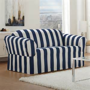 Sure Fit White Sofa Slipcover by White And Blue Navi Color For Loveseat Slipcover Design