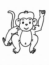 Monkey Coloring Printable sketch template