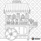 Coloring Pages Adults Candy Cart Adult Printable Coloriages Colouring Food Candyland Uploaded User Sheets sketch template
