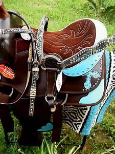 Western Cordura Trail Barrel Pleasure Horse SADDLE Bridle ...