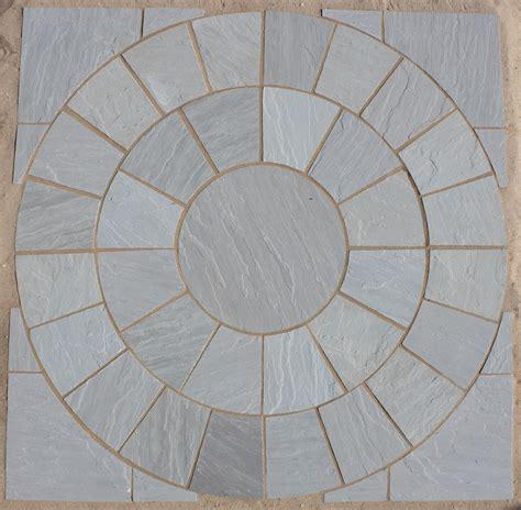 kandla grey circles indian sandstone paving lsd co uk
