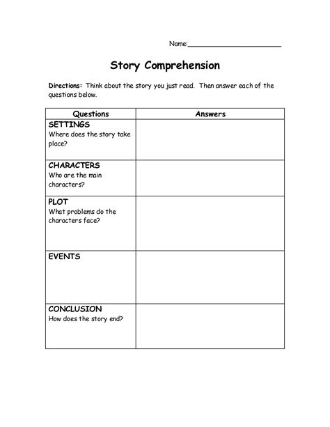 easy reading comprehension worksheets for adults