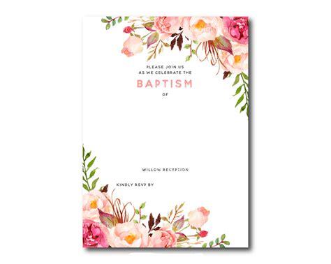 invitation template free free printable baptism floral invitation template dolanpedia invitations ideas