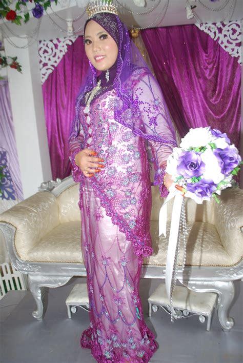 baju baju comel kebaya labuh purple biru