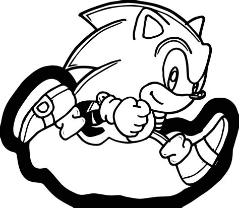 Classic Sonic Coloring Pages Pictures To Pin On Pinterest