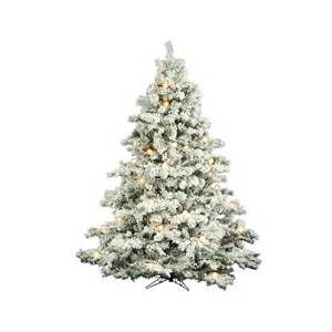 shop vickerman 7 5 ft pre lit alaskan pine flocked artificial tree with white clear