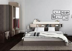 Idee De Tete De Lit : 26 t tes de lit avec rangement int gr pour votre chambre des id es ~ Teatrodelosmanantiales.com Idées de Décoration