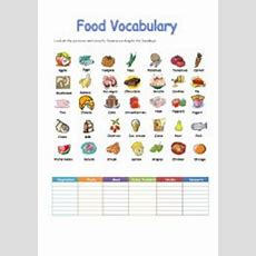 Food Vocabulary  Esl Worksheet By Idebere