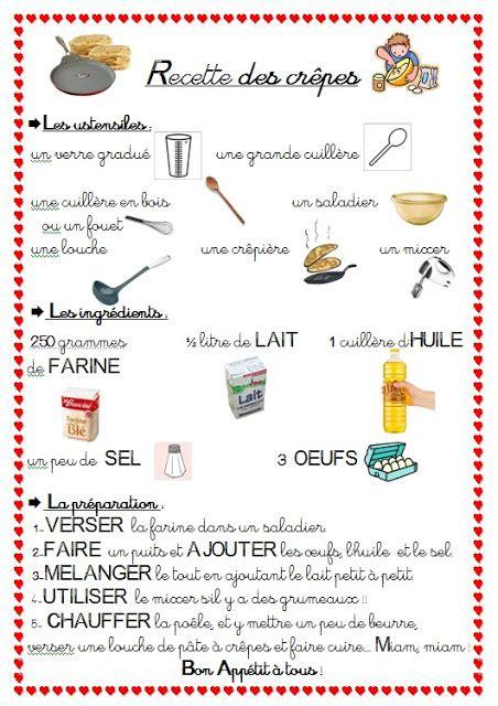 exercice recette de cuisine le français avec rosabel la nourriture