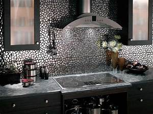 Mosaic tile backsplash for Metal tile backsplash ideas