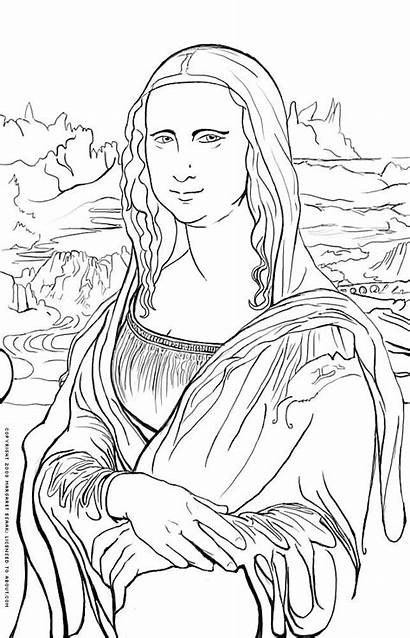 Coloring History Pages Mona Lisa Da Vinci