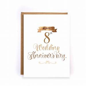 8th anniversary cards for her bronze anniversary card With 8th wedding anniversary gifts for her