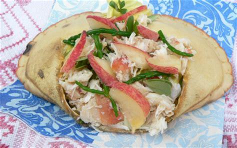 cuisiner salicorne recette salade de crabes salicorne pourpier herbes et pêches 750g