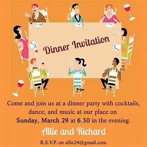 Casual Dinner Party Invitation Wording | cimvitation