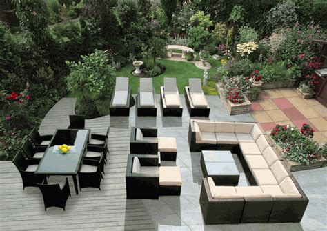 outdoor patio furniture wicker sofa dining and chaise