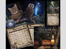 Witchcraft and wildlife artist LISA PARKER 2016 calendar