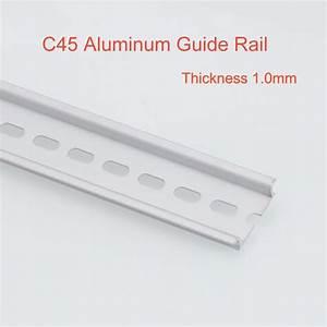 2pcs C45 Aluminum Guide Rail Din Mounting Clip