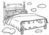 Bed Coloring Pages Print sketch template