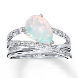 opal engagement ring lab created opal ring with diamonds sterling silver
