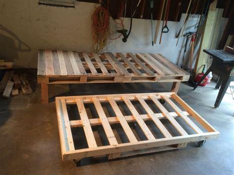 diy pallet day bed  roll  trundle diy furniture