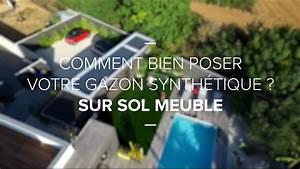 Comment Poser Du Gazon Synthétique : comment poser du gazon synth tique sur sol meuble youtube ~ Nature-et-papiers.com Idées de Décoration