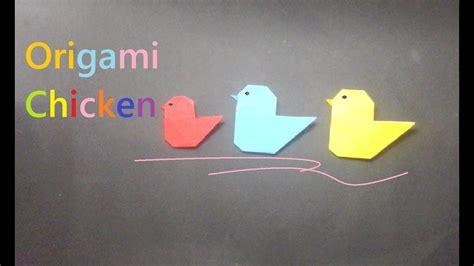 membuat origami ayam   chicken origami youtube