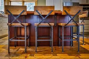 Custom furniture in muskoka barn board bar stools for Barn board bar stools