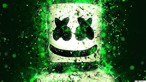 4k Resolution Neon Marshmello Wallpaper 3d by Descargar Fondo De Pantalla Marshmello Hd