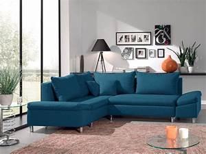 Canapé D Angle Bleu Canard : jade canap d 39 angle gauche convertible avec rangement ~ Nature-et-papiers.com Idées de Décoration