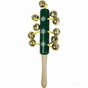 Christmas Shop Childrenskids Wooden Jingle Bells Stick