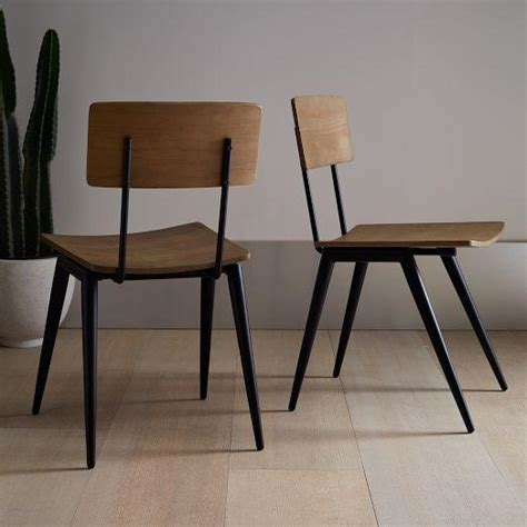 hairpin leg grey and brown dining chair