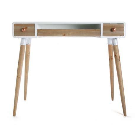 bureau table table bureau console avec tiroirs design scandinave bois