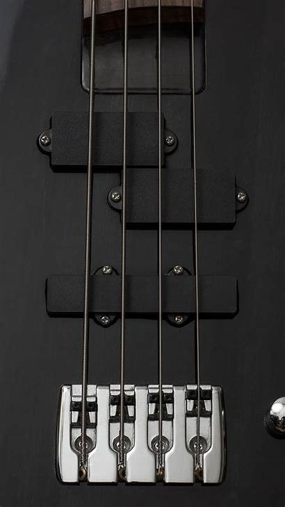 Guitar Bass Electric Dark Illustration Iphone Android