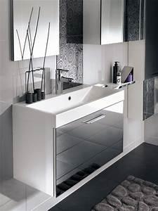 Petit Meuble Salle De Bain : des meubles vasque de petite profondeur inspiration bain ~ Teatrodelosmanantiales.com Idées de Décoration