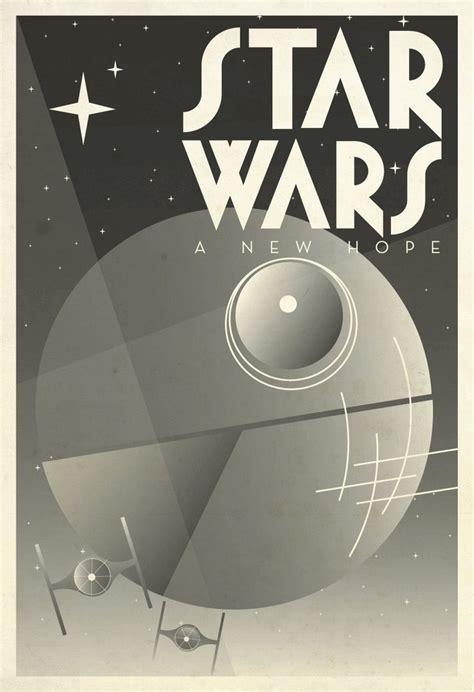 """Star Wars: Film Poster, Art Deco, Modern Art Print, 13"""" X"""