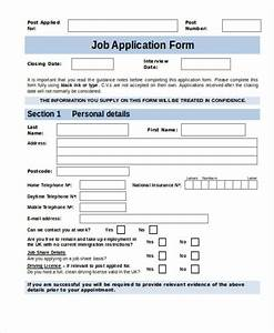 35 free job application form template With internal job application form template