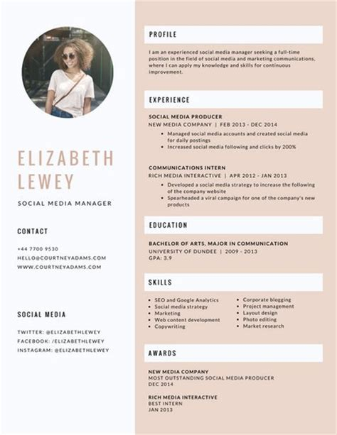 modern resume templates canva