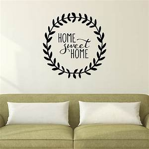 home sweet home leaves wall quotestm decal wallquotescom With wall saying decals