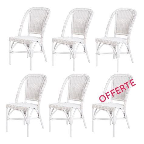 Chaises La Redoute Soldes by Chaise En Rotin Blanc Selva Rotin Design Lot De 6 Chaises Soldes Chaises La Redoute Iziva