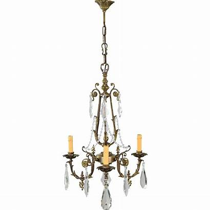 French Bronze Crystal Chandelier Tolw