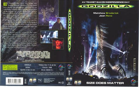 godzilla 1998 cover covers box sk godzilla 1998 high quality dvd