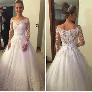 retro brautkleid 2016 vintage wedding dresses cheap white lace appliques the shoulder sleeves a