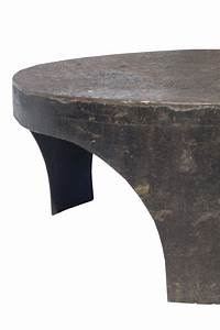 round industrial style coffee table at 1stdibs With industrial style round coffee table