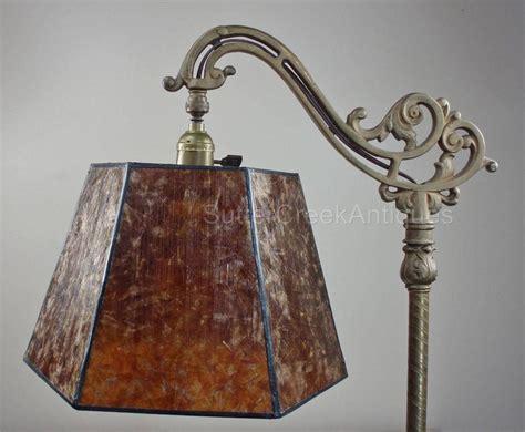 Mission Arts & Crafts Mica Bridge Floor Lamp Shade Amber