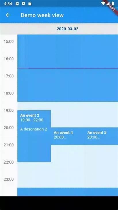 Calendar Week Flutter Library Views Weekview Customizable