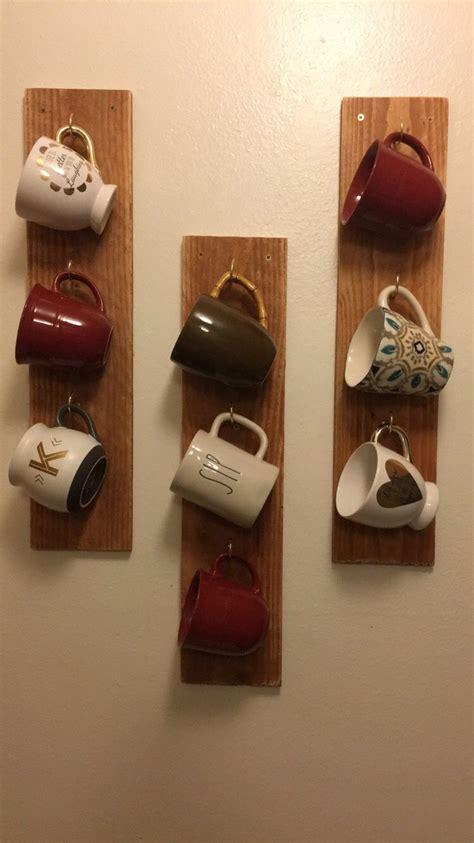 The best part, you can do it yourself and for very little money. Coffee mugs, mug holder, coffee bar, mug racks, diy mug rack | Macetas con botellas, Botellas ...