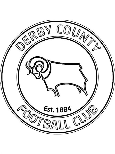 le logo de derby county football club coloriage