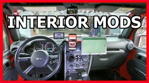 jeep wrangler interior upgrade mods walkthrough youtube